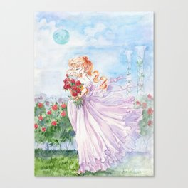 Princess Serenity with Roses Canvas Print