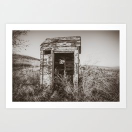 Outhouse, Hurd Round House, ND 3 Art Print