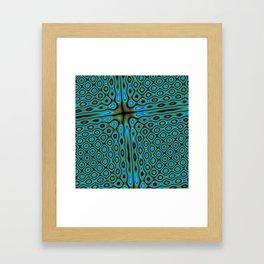Blue-Green cross Framed Art Print