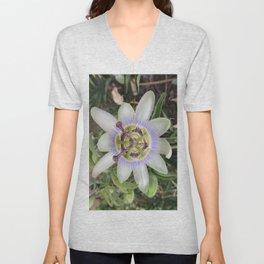 Passion Flower Blossom Unisex V-Neck