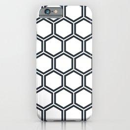 Hexagon White iPhone Case