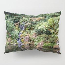 Portland Japanese Garden Waterfall Pillow Sham