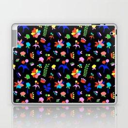 Groovy Prairie Bouquet in Black Laptop & iPad Skin
