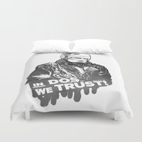 robocop Duvet Covers featuring Robocop  by Superdroso