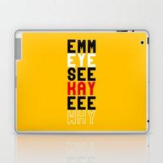 Mickey on Yellow Laptop & iPad Skin