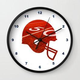 American Football Flag Wall Clock
