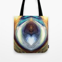 mirror Tote Bags featuring Mirror  by DreamBeyondArt
