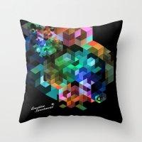 tetris Throw Pillows featuring TETRIS by Creative Streetwear