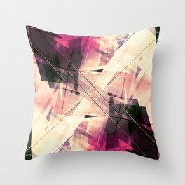Future Punk - Geometric Abstract Art Throw Pillow
