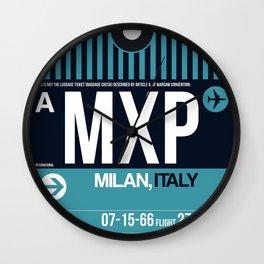 MXP Milan Luggage Tag 2 Wall Clock