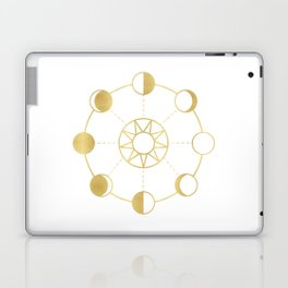 Gold Moon and Sun Phases Laptop & iPad Skin
