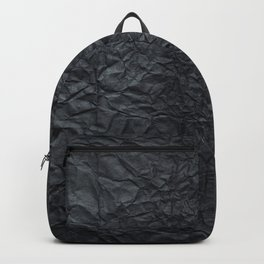 Abstract modern black gray creased paper texture Backpack