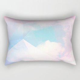 Cotton Candy Geometric Sky #homedecor #magical #lifestyle Rectangular Pillow