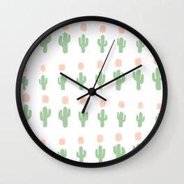 Cactus Pattern - arranged Wall Clock