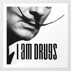 salvador dali i am drugs Art Print