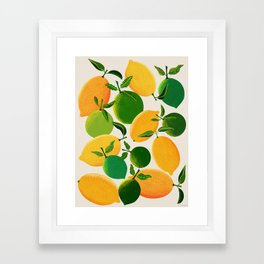 Lemons and Limes Framed Art Print