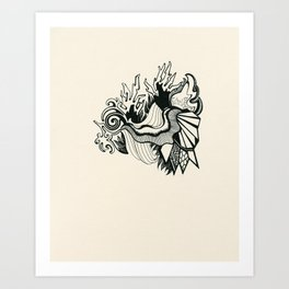 Psychedelic Coral Art Print