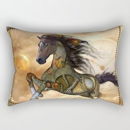 Steampunk, awesome steampunk horse Rectangular Pillow