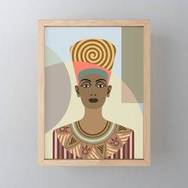 Queen Nefertiti Framed Mini Art Print