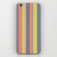 mid century iPhone & iPod Skins featuring Mid Century Herringbone 2 by David Andrew Sussman