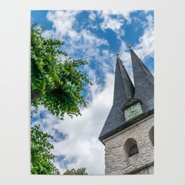 Tree & Bell Tower Poster
