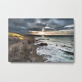 Sunrise on the cliffs Metal Print