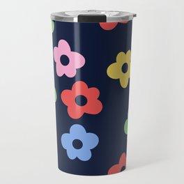 Ditsy Bib Flower Pattern Travel Mug