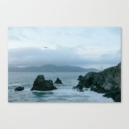 View of Golden Gate Bridge from Sutro Baths Canvas Print
