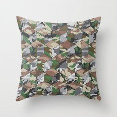 CUBOUFLAGE MULTI Throw Pillow