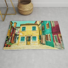 Little Gold House, Burano, Italy Rug