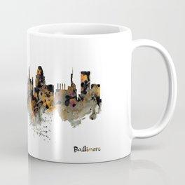 Baltimore Watercolor Skyline Coffee Mug