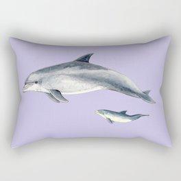 Bottlenose dolphin purple background Rectangular Pillow
