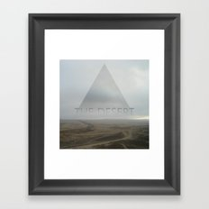 the desert Framed Art Print