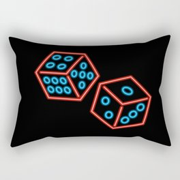 Neon dice Rectangular Pillow