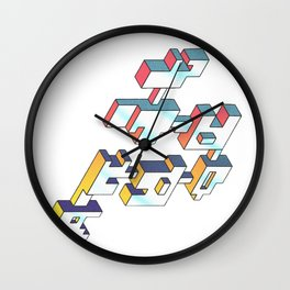 isotropic focus Wall Clock