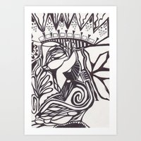 The Pen's Flow Art Print