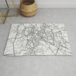 Rome City Map of Italy - Light Rug