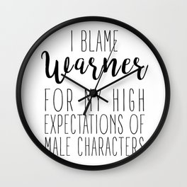 High Expectations - Warner Wall Clock