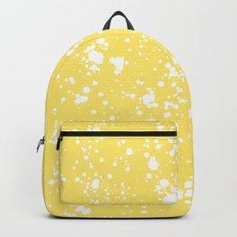 Mustard Yellow Splatter Backpack