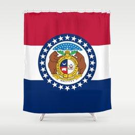 Missouri State Flag Shower Curtain