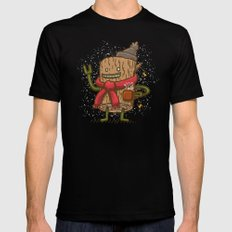 LogBot SMALL Black Mens Fitted Tee