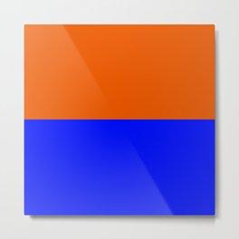 Persimmon Orange True Blue Metal Print