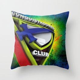 Conquistador 3D streetArt Throw Pillow