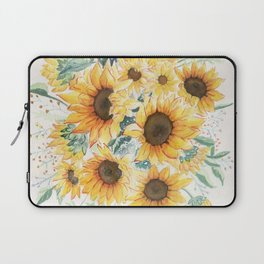 Loose Watercolor Sunflowers Laptop Sleeve