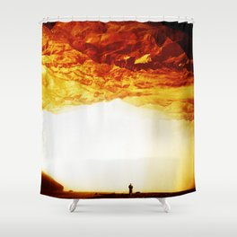 Gold Greed Shower Curtain