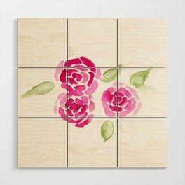 Cheerful Rose Wood Wall Art