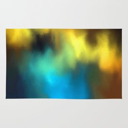 color burst - rising of storm Rug