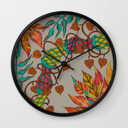 Twisted Tropics Wall Clock