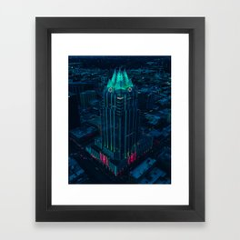 Frost Bank Tower from above Framed Art Print