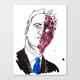 Two face David Cameron  Canvas Print